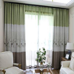 遮光カーテン オーダーカーテン 寝室 リビング 北欧 捺染 鹿柄(1枚)