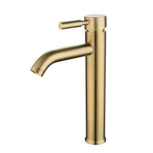 洗面蛇口 バス水栓 冷熱混合栓 水道蛇口 立水栓 ステンレス鋼 H131mm