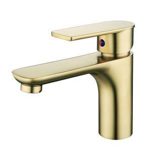 洗面蛇口 バス水栓 冷熱混合栓 水道蛇口 立水栓 真鍮 H165mm