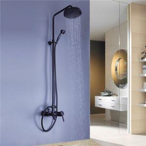 浴室シャワー水栓 レインシャワーシステム シャワーバー バス水栓 ヘッドシャワー+ハンドシャワー+蛇口 ORB MRS01