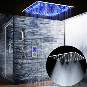 LED埋込形シャワー水栓 サーモスタット式混合栓 シャワーシステム タッチパネル制御 多機能 クロム