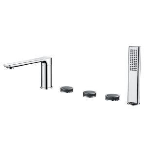 浴槽水栓 バス蛇口 シャワー混合栓 ハンドシャワー付 水道蛇口 真鍮 5点 2色