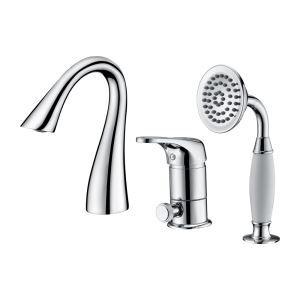 浴槽水栓 バス蛇口 シャワー混合栓 水道蛇口 ハンドシャワー付 3点 3色