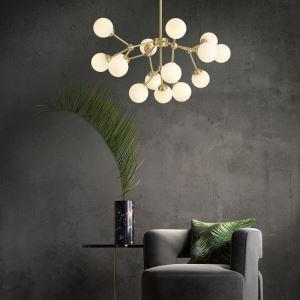 LEDシャンデリア リビング照明 ダイニング照明 寝室照明 魔豆型 LED対応 15/18灯