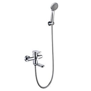 浴室シャワー水栓 バス蛇口 ハンドシャワー 冷熱混合栓 水栓金具 風呂用 クロム