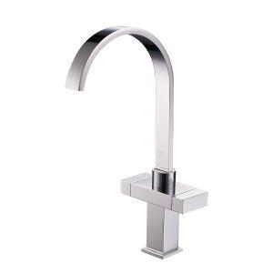 キッチン水栓 台所蛇口 冷熱混合栓 水道蛇口 2ハンドル 回転可 2色