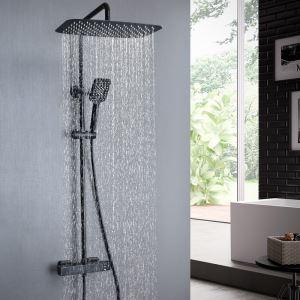 浴室シャワー水栓 シャワーシステム サーモスタット付混合栓 ヘッドシャワー+ハンドシャワー 2色