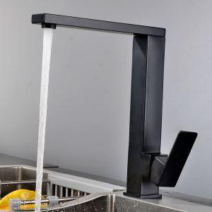 キッチン蛇口 台所蛇口 冷熱混合栓 水道蛇口 ステンレス鋼 回転可 2色