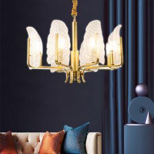シャンデリア リビング照明 ダイニング照明 寝室照明 葉型 豪華 LQ8311