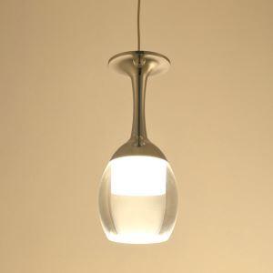 LEDペンダントライト 天井照明 玄関照明 照明器具 ワイングラス型 1灯 LED対応