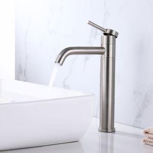 洗面蛇口 バス水栓 冷熱混合栓 手洗器蛇口 回転可 ステンレス鋼 2色 H30cm