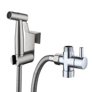 ビデ蛇口 洗浄器用水栓 シャワー蛇口 ステンレス鋼 ヘアライン
