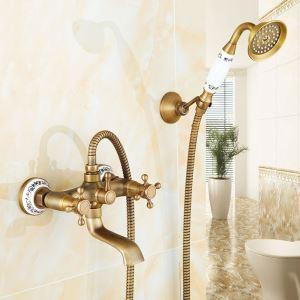 浴室シャワー水栓 ハンドシャー バス水栓 浴槽蛇口 混合水栓 蛇口付 ブラス