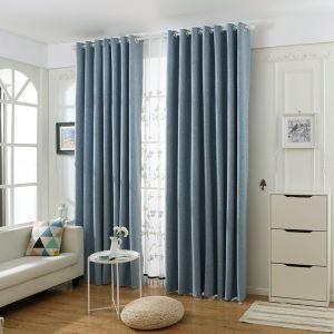 遮光カーテン オーダーカーテン 寝室 リビング 純色 現代 防水(1枚)