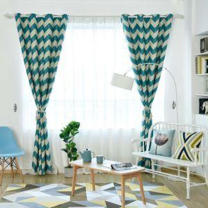 遮光カーテン オーダーカーテン オシャレ 捺染 波柄(1枚) 3色