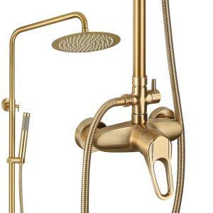 浴室シャワー混合栓 シャワーシステム ヘッドシャワー+ハンドシャワー バス水栓