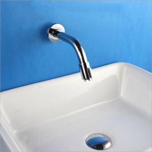 壁付水栓 洗面蛇口 単水栓 バス水栓 浴室蛇口 水道金具 クロム FTTB008