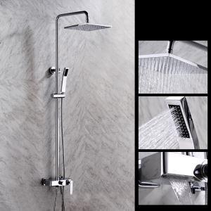浴室シャワー水栓 レインシャワーシステム シャワーバー ヘッドシャワー+ハンドシャワー+蛇口 バス水栓 FTTB047