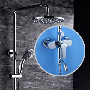 浴室シャワー水栓 レインシャワーシステム シャワーバー ヘッドシャワー+ハンドシャワー+蛇口 バス水栓 FTTB038