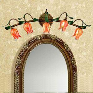 LEDウォールランプ LED瑠璃照明 ミラー前用照明 インテリア照明 5灯 RI039