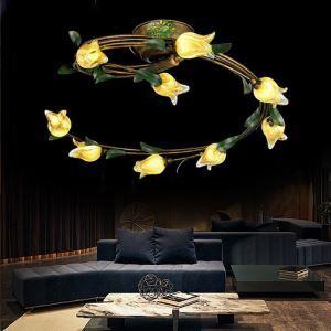 LEDシーリングライト 照明器具 リビング照明 店舗照明 寝室照明 瑠璃 ボヘミア風 9灯 LED対応 RI020