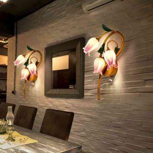 LED壁掛け照明 ブラケット 間接照明 ウォールランプ 玄関照明 瑠璃 北欧風 チューリップ 3灯 LED対応 RI002