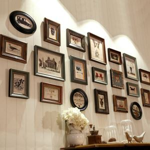壁掛けフォトフレーム 写真立てセット 額縁 フォトデコレーション 木製 8/12/20個セット Dora