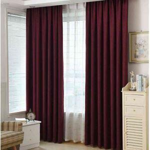 遮光カーテン オーダーカーテン 寝室 リビング 無地柄 純色 5色 現代風(1枚)