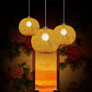 ペンダントライト 照明器具 リビング照明 店舗照明 ダイニング照明 玄関 寝室 和室和風 竹木 1灯 GYD0075