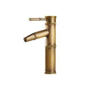 洗面水栓 バス水栓 浴室蛇口 竹棹型 バンブー 冷熱混合栓 立水栓 水道蛇口 竹型 ORB