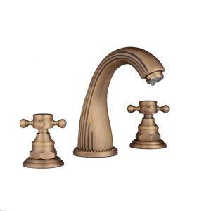 洗面水栓 バス水栓 浴室蛇口 冷熱混合栓 立水栓 2ハンドル 水道蛇口 3点