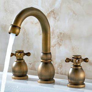 洗面水栓 バス水栓 浴室蛇口 冷熱混合栓 舵型ハンドル 2ハンドル 水道蛇口 3点