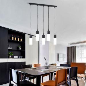LEDペンダントライト 照明器具 リビング照明 ダイニング照明 店舗照明 黒色 北欧風 LED対応 5灯 QM85055