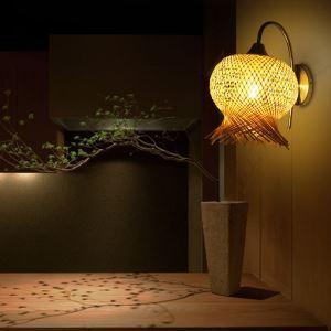 壁掛け照明 ウォールランプ ブラケット 間接照明 玄関照明 和室和風 竹木 1灯 花型 GYB01