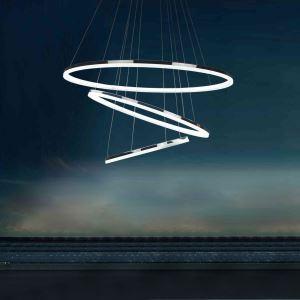 LEDペンダントライト 照明器具 リビング照明 店舗照明 LED対応 80+60+40cm 三環