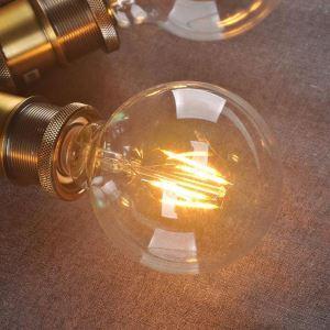 LED電球 バルブ レトロな電球 口金E26 G95 6W 5個入り