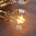 LED電球 バルブ レトロな電球 口金E26 G95 6W 10個入り