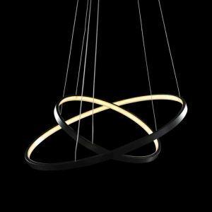 LEDペンダントライト 照明器具 リビング照明 店舗照明 天井照明 オシャレ LED対応 二環 60+40cm
