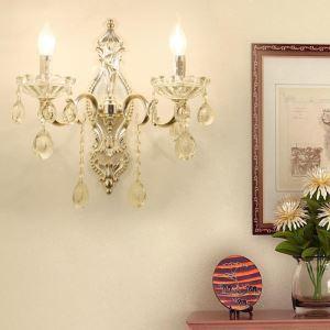 壁掛け照明 ウォールランプ 照明器具 ブラケット 玄関照明 クリスタル オシャレ 1灯/2灯 HQ3016