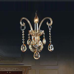 壁掛け照明 ウォールランプ 照明器具 ブラケット 玄関照明 2色 クリスタル オシャレ 1灯/2灯 HQ8095
