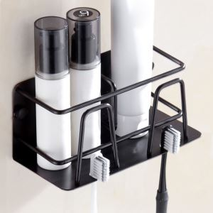 浴室棚 シェルフ 化粧棚 歯ブラシホルダー 浴室収納 穴開け不要 ORB