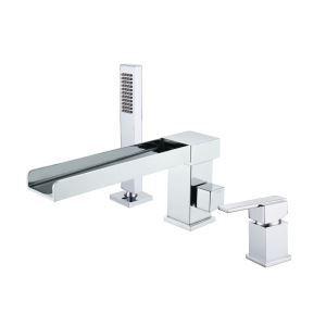 浴槽水栓 バス蛇口 シャワー混合栓 浴室水栓 ハンドシャワー付 水道蛇口 3点 クロム