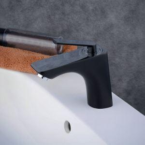 洗面水栓 バス蛇口 冷熱混合栓 立水栓 水道蛇口 手洗器水栓 黒色 BL6723BC