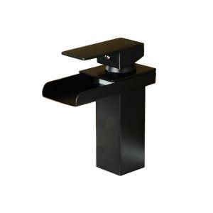 洗面蛇口 バス水栓 冷熱混合栓 手洗器蛇口 立水栓 水道蛇口 水栓金具 黒色 HAY