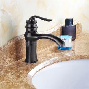 洗面蛇口 バス水栓 水道蛇口 冷熱混合水栓 真鍮製 黒色