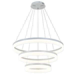 LEDペンダントライト 天井照明 店舗照明 リビング照明 北欧風 白色 3環 80+60+40cm