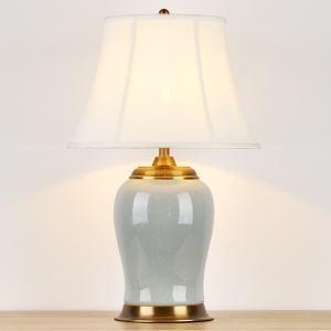 テーブルランプ デスクスタンド 枕元照明 陶器 クラック柄 1灯 HY122