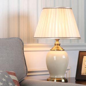 テーブルランプ デスクスタンド 枕元照明 陶器 白色/青色 1灯 HY120