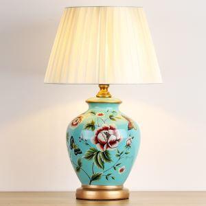 テーブルランプ デスクスタンド 枕元照明 ナイトライト 陶器 3色 1灯 HY127
