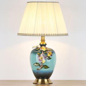 テーブルランプ デスクスタンド 枕元照明 ナイトライト 陶器 3色 1灯 HY026